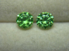 2 rare Russian Demantoid Garnet gems HORSETAIL diamond cut Natural Russia Green