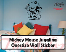 Walt Disney - Mickey Mouse Juggling Cartoon Logo Wall Vinyl Sticker