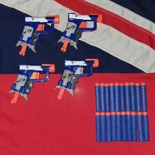 4 Nerf Elite Jolt Blaster Guns 20 Foam Darts BUNDLE JOB LOT War Game Starter Kit