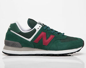 New Balance 574 Women's Green Garnet Casual Athletic Lifestyle Sneakers Shoes
