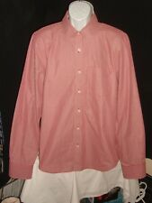 NWOT RUEHL No.925 RED/WHITE STRIPED 100% COTTON L/S BUTTON FT. SHIRT SZ. XL