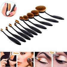 10stk Foundation Oval Pinsel Puderpinsel Kosmetik Brush Make Up Zahnbürste Set
