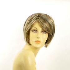 Perruque femme courte blond clair méché cuivré chocolat  STONE 15613H4