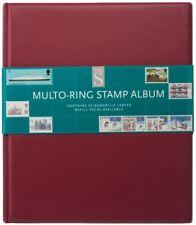 WHSmith Assorted Colour Multo-Ring Stamp Album Ring Bound 50 Quadrille Leaves