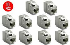 10 Pcs CAT8 Full Shielded RJ45 Ethernet LAN Network Jack Keystone 40Gbps ToolLes