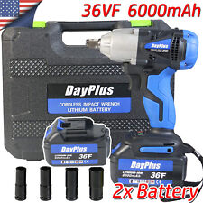 Rechargeable Cordless Impact Wrench Driver 420nm 2li Ion Electric Rattle Nut Gun