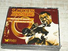 3 CD's Louis Armstrong - Wonderful World-Wonderful Music -Readers Digest- *NEU*
