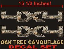 4x4 Truck Decals, REAL TREE CAMOUFLAGE  (Set) for Ford F150 and Super Duty CAMO
