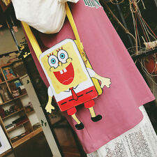 spongebob satchel shoulder bag unisex coin money phone bag anime cute new