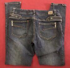 """Chor big Zippers Skinny Stretch Blue Jeans size 15 (32x32"""")"""
