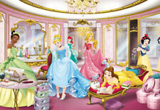 Girly bedroom decor photo wallpaper feature wall Disney Princess | Without glue