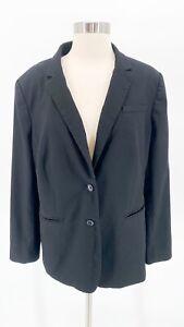 BANANA REPUBLIC Womens Black 2 Button Classic Blazer Plus Size 14