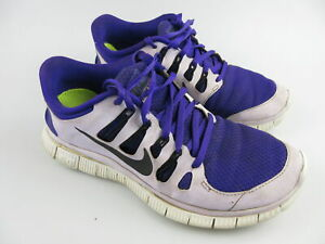 Women's NIKE 'Free 5.0' Sz 7.5 US Runners Purple White VGCon   3+ Extra 10% Off