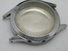 VINTAGE 1940S PIERCE STAINLESS STEEL 8 SCREW BACK CASE 45 BY 37 MM