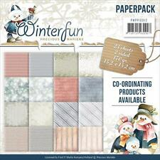 WINTER FUN Scrapbooking 6x6 inch Paper Pack Find It Trading 23 Sheet PP10012 NEW