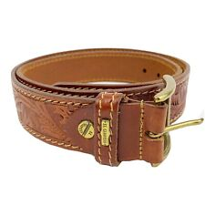 El Campero Leather Fauna Embossed Belt Made in Italy
