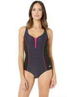 Speedo Gravity Texture Touchback One Piece Swimsuit Women's Size 10 16607