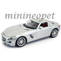 MAISTO 31389 MERCEDES BENZ SLS AMG 1/18 DIECAST MODEL CAR SILVER METALLIC