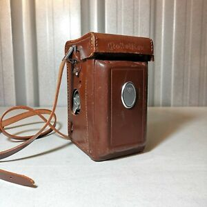 1970s Rolleiflex Fully Functional 75mm White Face 3.5 F model 3 TLR Camera