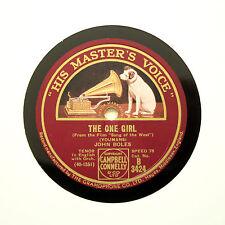 "JOHN BOLES ""West Wind / The One Girl"" (E+) HMV B-3424 [78 RPM]"