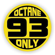 93 OCTANE ONLY Fuel Door Vinyl Sticker | Tuned Silverado F150 Decal Label Intake