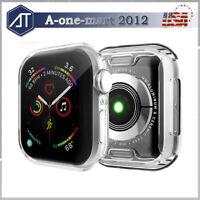 Fr Apple Watch Series 5/4/3 38MM 42MM 40MM 44MM Full Cover TPU Case Clear Bumper