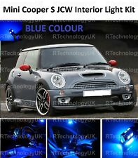 BLUE PREMIUM MINI COOPER S JCW R50 R53 INTERIOR FULL UPGRADE LED LIGHT KIT