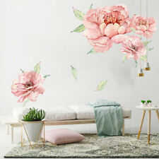 Calcomanías desprendibles Pared Adhesivo Peonía Flor Arte Mural Decoración Hogar Sala de PVC