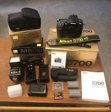 Nikon D700 12.1MP Digital SLR Camera with MB-D10 Grip, SB-600 Flash, and More