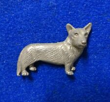 Cute 3-Dimensional Pembroke Welsh Corgi Dog Breed Pewter Color 3D Lapel Pin