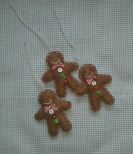 Gingerbread Man Christmas Tree Ornament Christmas Decoration Gift Handmade Felt