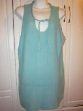 Newport News Easy Style Size 3X Blue Sleeveless Knit Spring/Summer Sweater Top
