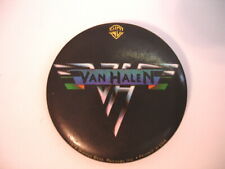 Van Halen 1978 World Tour Original Large Stickback Button Pin / WB Official