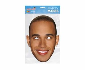 Lewis Hamilton Single 2D Card Party Face Mask - Motor Racing Star