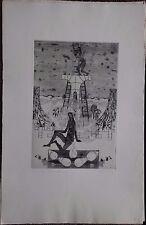 Jean-Marie ALBAGNAC - Gravure etching signée numérotée surréalisme surrealism *