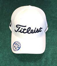 Titleist White Mesh Golf Hat + Brand New + Small to Medium + Tour Issue