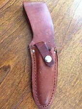 """Vintage Leather Case  Hunting Knife Belt Sheath/Holder 8 1/2"""" long- 4 inch blade"""