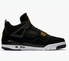 Nike Air Jordan 4 Retro GS Royalty Black Metallic Gold (408452-032) Size 4 Youth