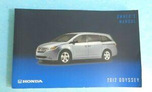 12 2012 Honda Odyssey owners manual