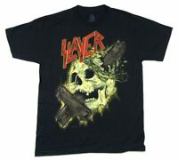 Slayer Cross Through Skull 2015 Tour Mens Black T Shirt New Official Band Merch