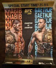 UFC 254 18x24 Promotional Poster Featuring Khabib Vs Gaethje