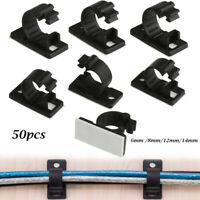 Line Fastener Self-adhesive Wire Management Cable Clip Fixer Holder Cable Clamp