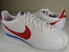 Womens Nike Classic Cortez Leather White Red Forrest Gump SZ 8 (807471-103)