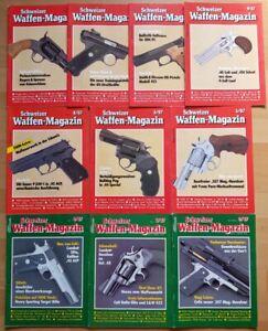 10x Schweizer Waffenmagazin 1987 komplett Zeitschrift Pistolen Hefte Jahrgang