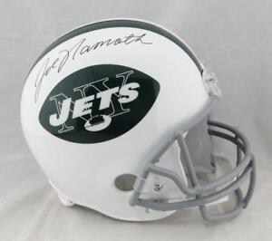 Joe Namath Autographed New York Jets  65-77 TB F/S Helmet - JSA W Auth *Black