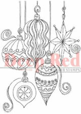 Deep Red Rubber Cling Stamp Holiday Christmas Ornament Collection
