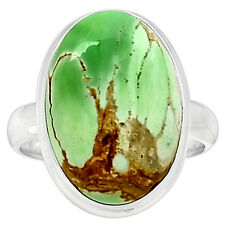 Variscite 925 Sterling Silver Ring Jewelry S.10 VRSR141