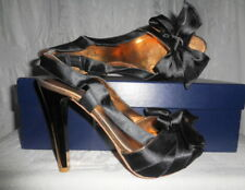 LEONA EDMISTON Black Bow / Copper Slingbacks 38 8 $200