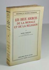 """BERGSON """"Les deux sources de la morale et de la religion"""" EO. 1/100 Papyrus"""