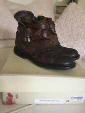 As98 a.s.98 AIRSTEP boots motard marron metallic 38 39 Rivets rare excellent état